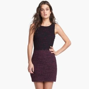 Bailey 44 Lace and Boucle Dress Bodycon Purple L